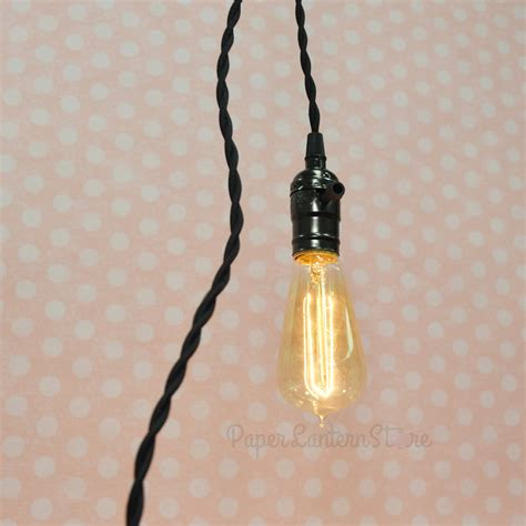 Single Pearl Black Socket Pendant Light L Cord Kit W Cord Pendant Light