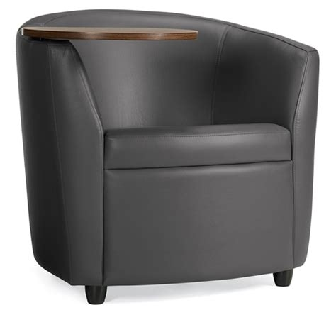 lounge chair with desk arm sirena 3371lmltl leather lounge chair with tablet arm by
