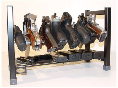 Display Stand With Hooks by Hyskore Mega Stacking Pistol Rack Metal Black