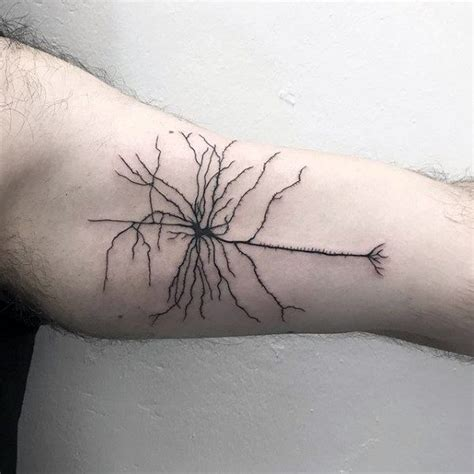 neuron tattoo 40 neuron designs for nerve cell ink ideas