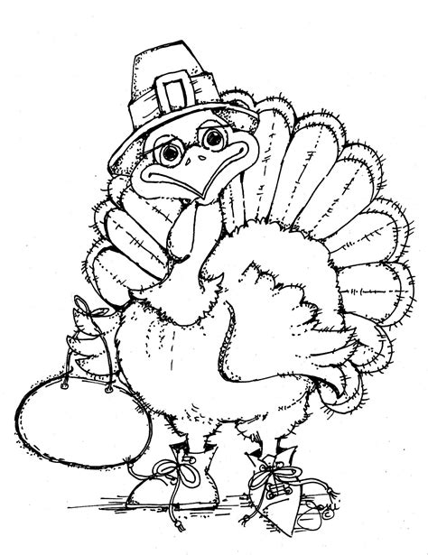 coloring pages thanksgiving to print free printable turkey coloring pages for kids