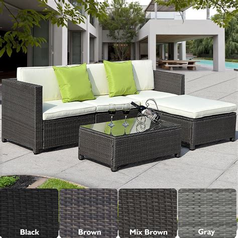 table home living outdoor garden conservatory rattan garden furniture set chairs sofa table outdoor