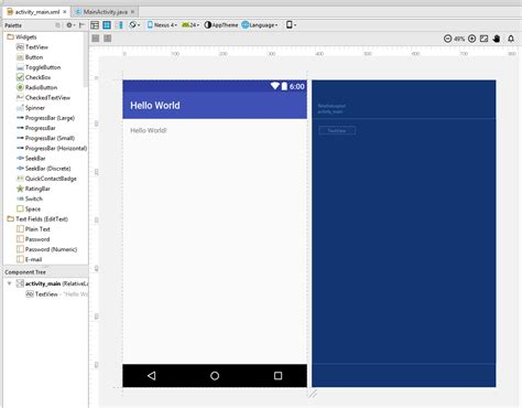 android studio layout editor tutorial introduction to android studio 2 android tutorials