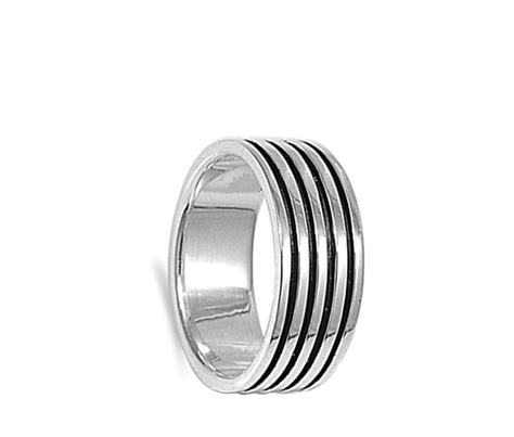 sterling silver s s engraved wedding ring