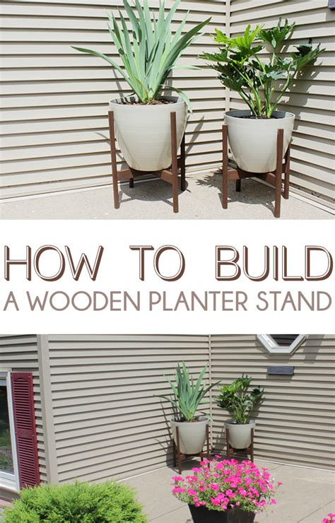 remodelaholic diy wooden planter stand