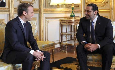 emmanuel macron hariri emmanuel macron welcomes lebanese prime minister saad