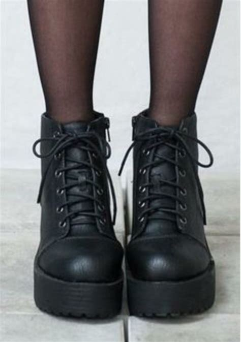 grunge boots shoes grunge boots combat boots black