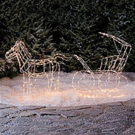 lighted christmas horse and carriage new 2 pc lighted carriage yard decoration outdoor indoor light ebay