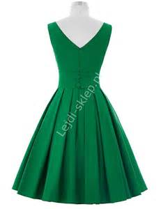 sukienki zielone zielona sukienka z plisowanym dołem zielone sukienki