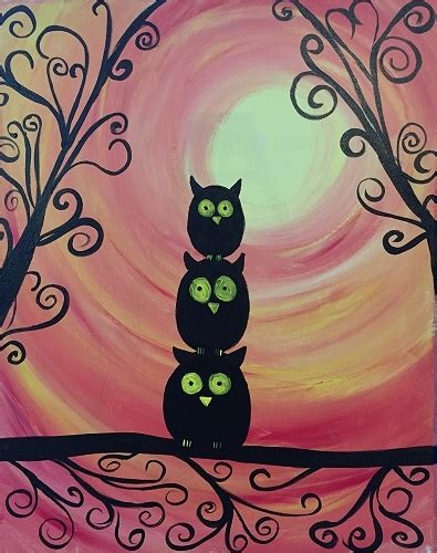 paint nite owl paint nite owl family