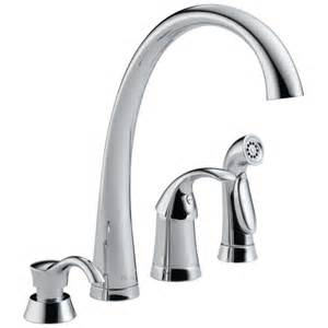 delta single lever kitchen faucet delta 174 pilar 174 single handle widespread kitchen faucet in