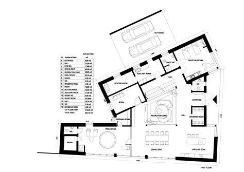 adhouse plans gallery of private house in marupe open ad zane tetere
