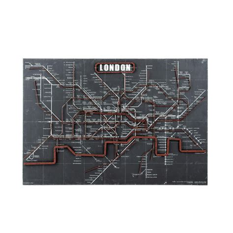 wohnzimmer u bahn wanddekoration londoner u bahn underground maisons du monde