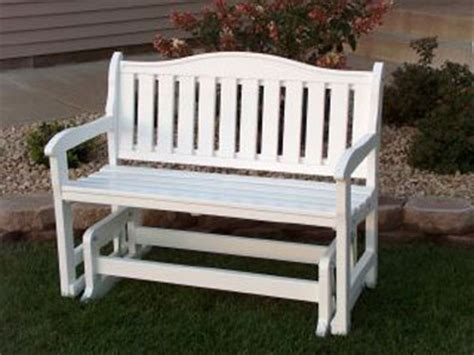 white outdoor glider bench white glider bench