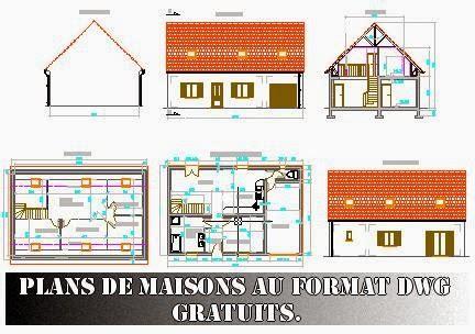 Plan Maison Format Dwg Gratuit | plans de maisons au format dwg gratuits free dwg journal3
