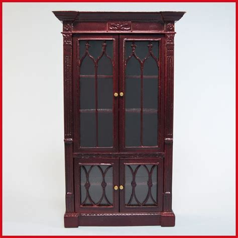 gothic doll house dollhouse miniature gothic revival display cabinet by bespaq late from