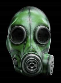 Carnival Theme Decorations Smoke Mask Green Made Of Latex