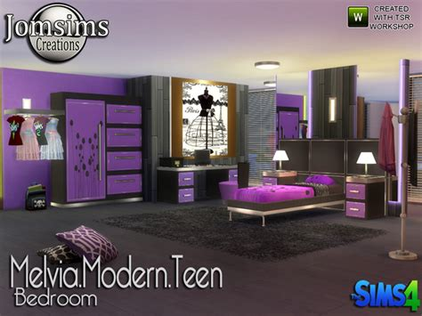 modern teen bedroom melvia modern teen bedroom by jomsims at tsr 187 sims 4 updates