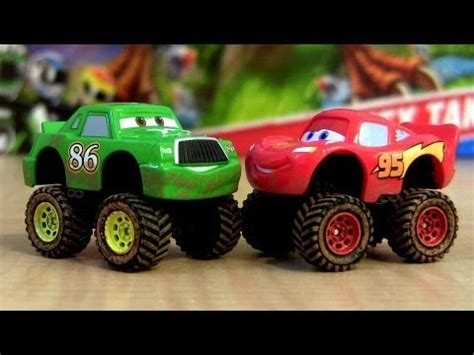 lightning mcqueen monster truck videos 4x4 disney cars mini adventures pixar hicks monster