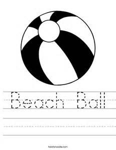 beach ball worksheet twisty noodle