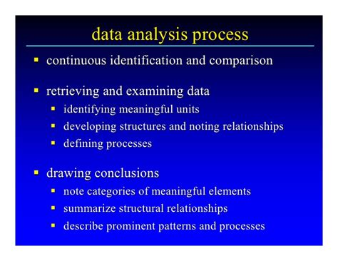 pattern or meaningful unit of information qualitative research