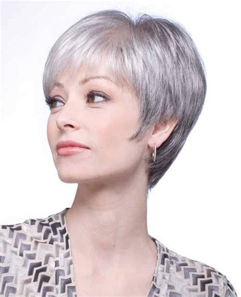style fot thin grey hair beautiful short straight pixie hairstyle for grey hair