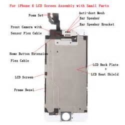 ori lcd screen touch digitizer assembly with small parts for iphone 6 white
