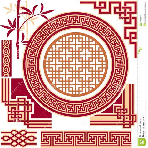 chinese design elements vector set of oriental chinese design elements stock images