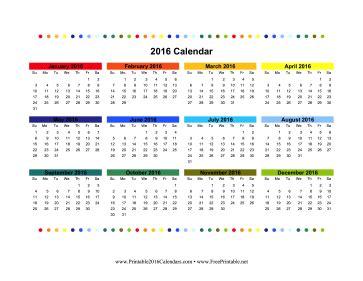 free colorful printable calendar 2016 printable 2016 colorful calendar