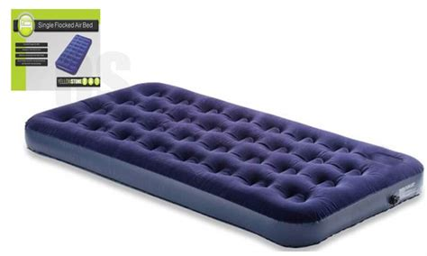 blow up bed yellowstone single flocked blow up mattress airbed air bed