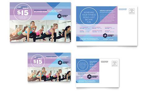 promotional event post card template center postcard template design