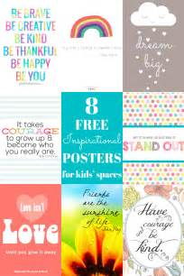 free printable quotes pdf 8 free inspirational posters for kids spaces childhood101