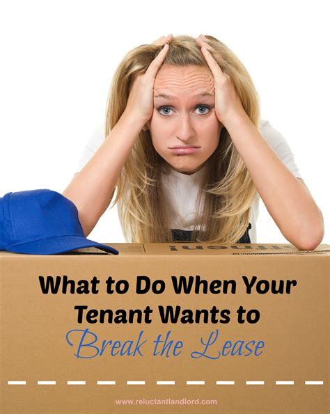 can i break my lease to buy a house what to do when your tenant wants to break the lease