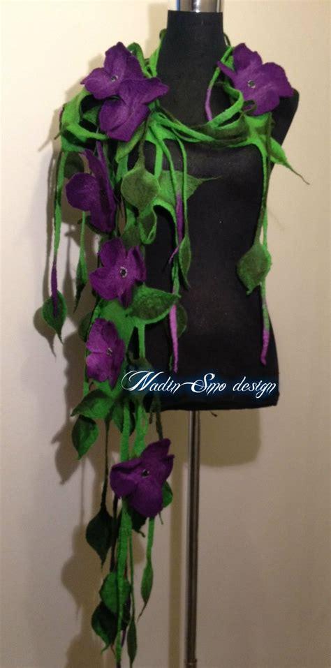 Handmade Woolen Flowers - 17 best ideas about felt flower scarf on felt