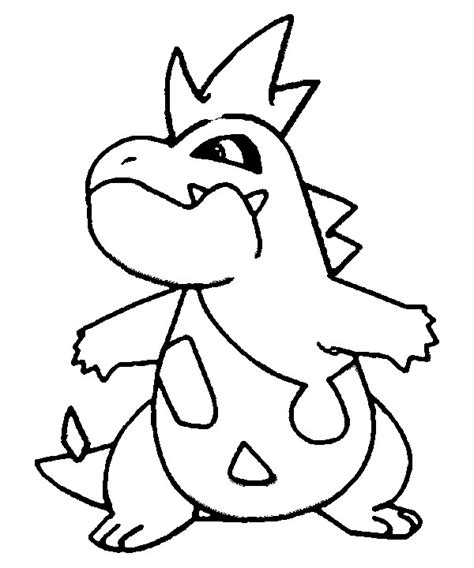 pokemon coloring pages totodile coloring pages pokemon croconaw drawings pokemon