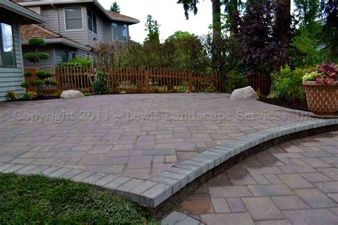 Pictures Of Patios With Pavers Lewis Landscape Services Paver Patios Portland Oregon Beaverton Or Installers Of Paver