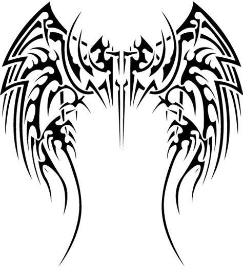 ailes blanc noir tribal png gif morgane decayeux