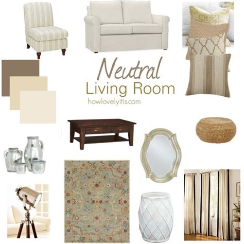 Adding Color To Neutral Living Room by Modern Bloom Mood Board Neutral Living Room