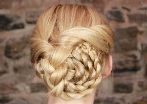 easy braided updo tutorial