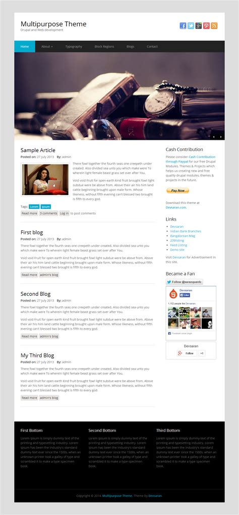 Multipurpose Theme Drupal Free Themes Drupal Dating Template