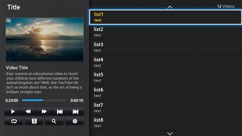 video player layout exle of a media player window mode