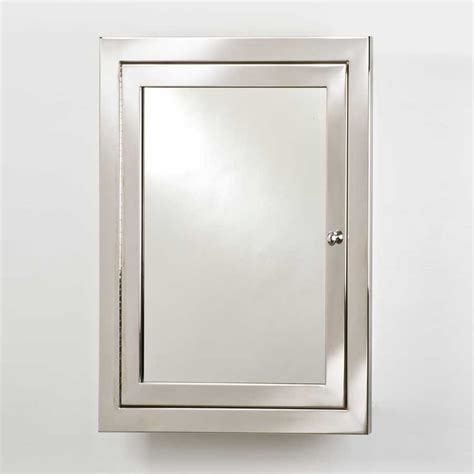 decorative medicine cabinets with mirrors afina metro 20 quot mirrored medicine cabinet polished