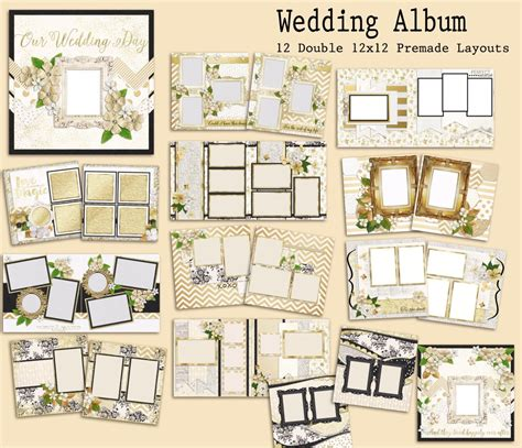 Wedding Album Scrapbook Layouts by Scrapbooking Premade Pages Getaspecialdeal