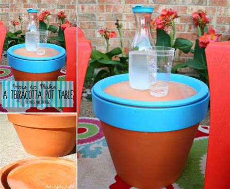 how to make terracotta how to make a terra cotta pot table pictures photos and