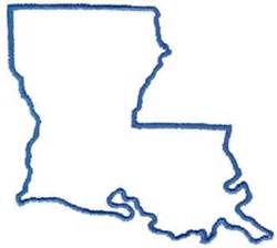 La Outline by Outlines Embroidery Design Louisiana Outline From Dakota Collectibles