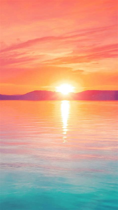 wallpapers for iphone 5 summer sunset night lake water sky red flare iphone 5s