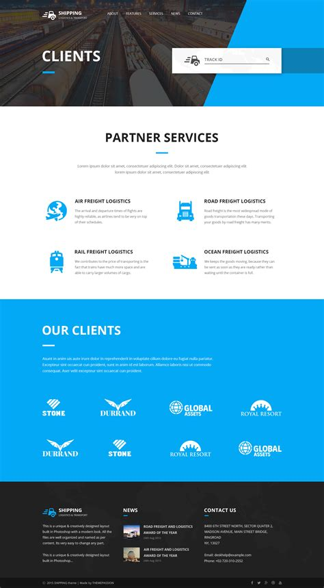 html template shipping logistics transport html template by