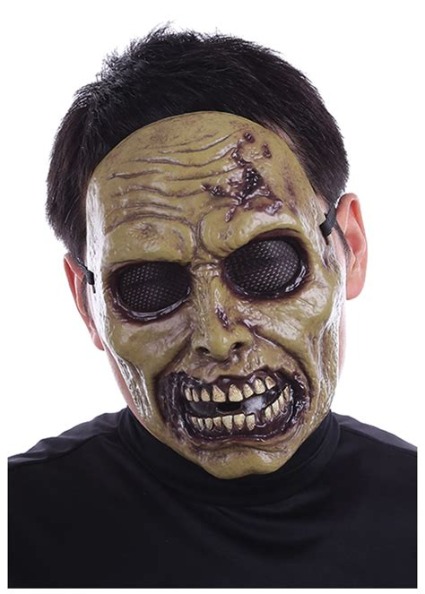 printable zombie masks pin zombie mask for halloween scary masks kids to print on