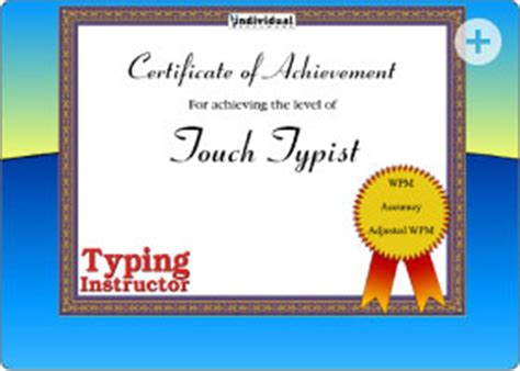 typing certificate template quotes