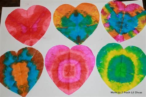 How To Make Tie Dye Paper With Markers - tie dye hearts you can even use regular crayola markers